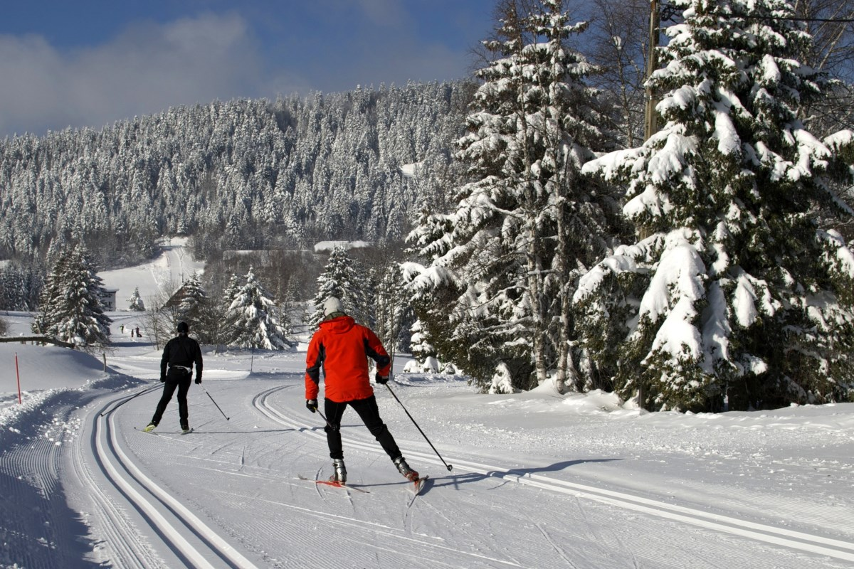 Cross country skiing at la Féclaz